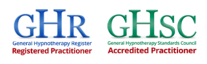 Hypnotherapy. GHR and GHC logo in line